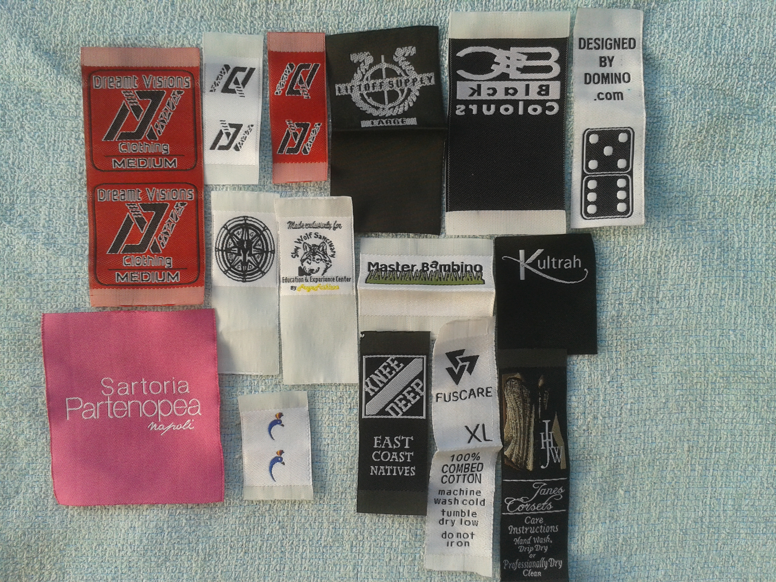 Woven Tags Clothing Labels